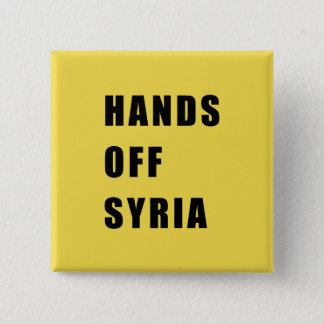 Hands off Syria 2 Inch Square Button