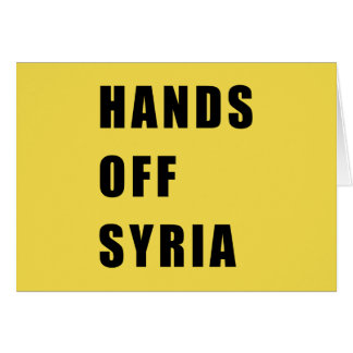 Hands off Syria Card