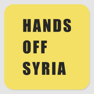 Hands off Syria Square Sticker