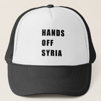 Hands off Syria Trucker Hat