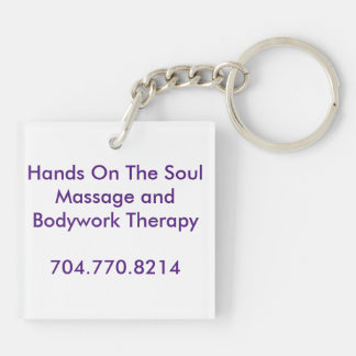 Hands On The Soul Tagline Keyring Square Acrylic Keychain