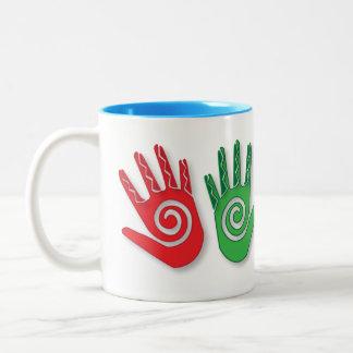 Hand's Petroglyph Mug Design