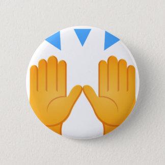 Hands Raised Emoji 2 Inch Round Button
