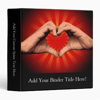 Hands Shape Heart Binder