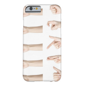 Hands showing Chinese way of counting Barely There iPhone 6 Case