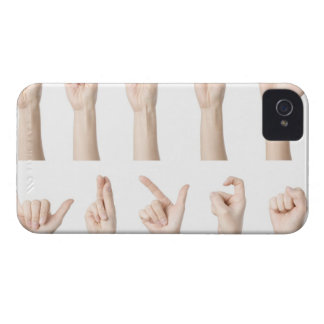 Hands showing Chinese way of counting iPhone 4 Cases