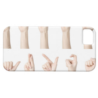 Hands showing Chinese way of counting iPhone 5 Covers