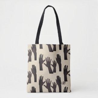 Hands Tote Bag - Sangria