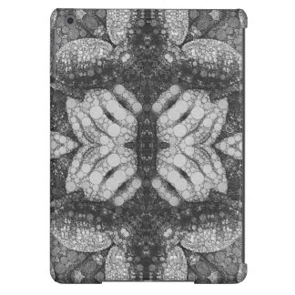 Hands Turtle Abstract Black&White Cover For iPad Air