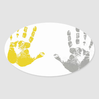 HANDS UP DONT SHOOT.png Oval Sticker