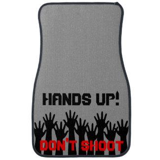 Hands Up! Don't Shoot Set of Car Mats Car Floor Carpet