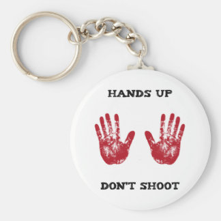 Hands Up Don't Shoot, Solidarity for Ferguson, Mo. Basic Round Button Keychain