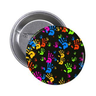 Hands Wallpaper 2 Inch Round Button