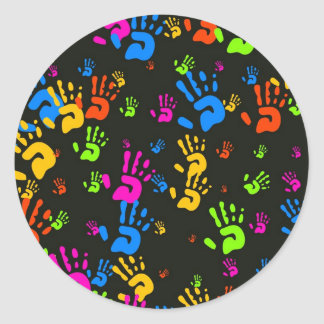 Hands Wallpaper Round Sticker
