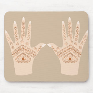 hands with henna mouse pad