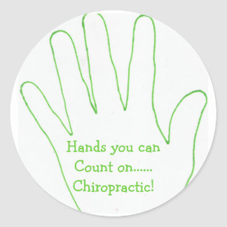Hands you canCount on......Chiropractic! Classic Round Sticker