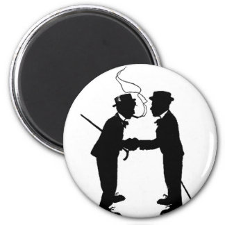 Handshake between gentlemen magnet