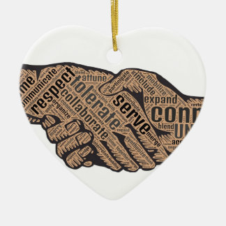 Handshake Ceramic Ornament