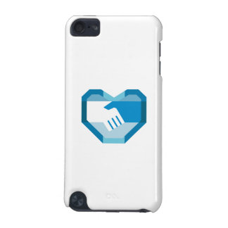 Handshake Forming Heart Shape Retro iPod Touch (5th Generation) Case