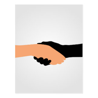 Handshake- Graphic to portray- Stop racism Postcard