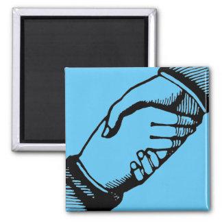 Handshake Helping Hand Magnet with Vintage Hands