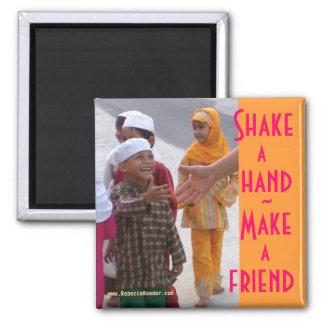 Handshake Make friends Magnet