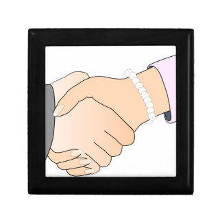 Handshake Man and Woman Jewelry Boxes