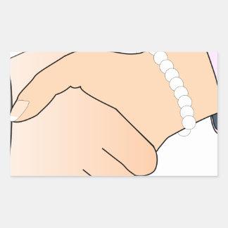 Handshake Man and Woman Sticker