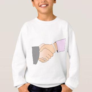 Handshake Man and Woman Sweatshirt
