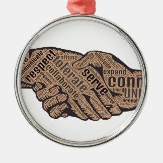 Handshake Metal Ornament