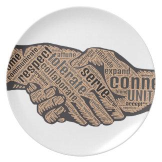 Handshake Plate