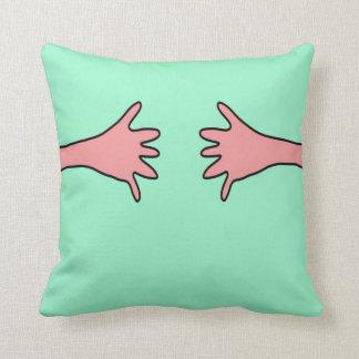 Handshake Pop Art Design Cartoon Artwork Throw Pillow