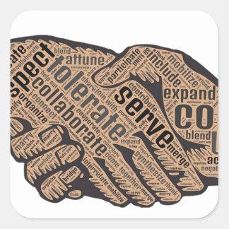 Handshake Square Sticker