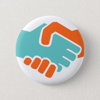 Handshake together 2 inch round button