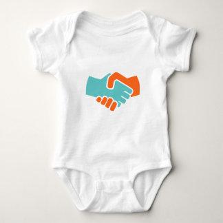 Handshake together baby bodysuit