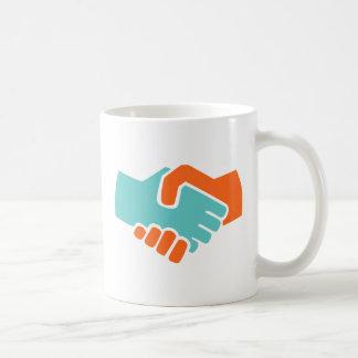 Handshake together coffee mug