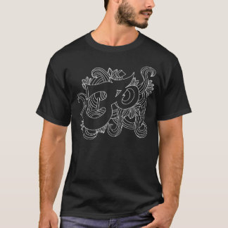 handsketched OM white T-Shirt