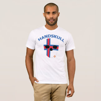 HANDSKULL Faroe Islands - Basic white short sleeve T-Shirt