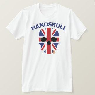 HANDSKULL Great Britain - Basic white short sleeve T-Shirt
