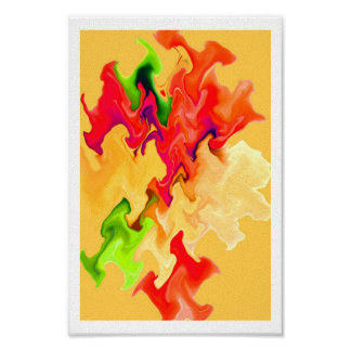 Handsome ABSTRACT Art in Fruit & Vegetable Colors Poster