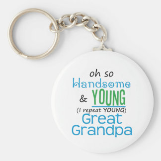 Handsome and Young Great Grandpa Keychain