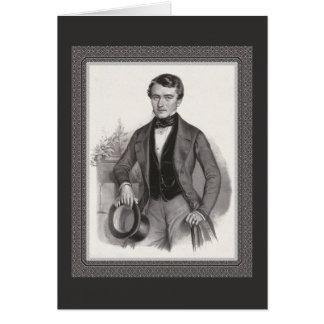 Handsome Biedermeier Gentleman Elegant Vintage Card