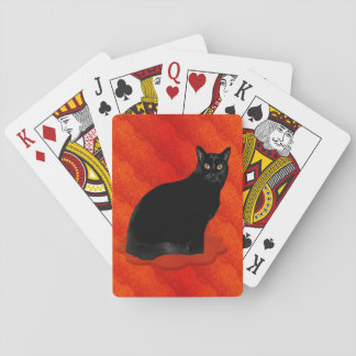 Handsome Black Cat Playing Cards