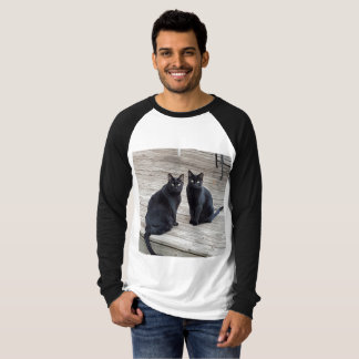 Handsome Black Kitties Baseball T T-Shirt