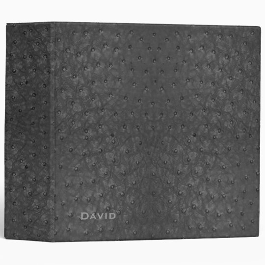 Handsome Black Ostrich Leather Look All Purpose Binders