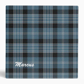 Handsome Blue and Black Clark Plaid Binder