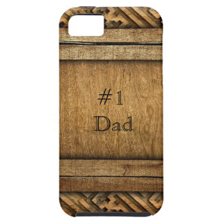Handsome Brown Carved Wood Dad Father's Day Case For The iPhone 5