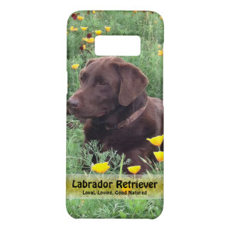 Handsome Chocolate Lab in California Poppy Patch Case-Mate Samsung Galaxy S8 Case