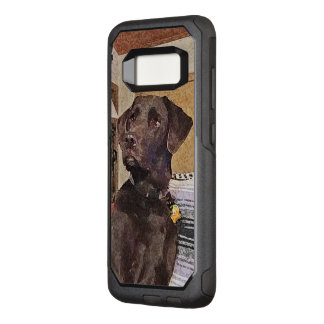 Handsome Chocolate Labrador Textured Profile OtterBox Commuter Samsung Galaxy S8 Case
