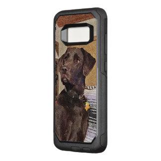 Handsome Chocolate Labrador Textured Profile OtterBox Commuter Samsung Galaxy S8 Case